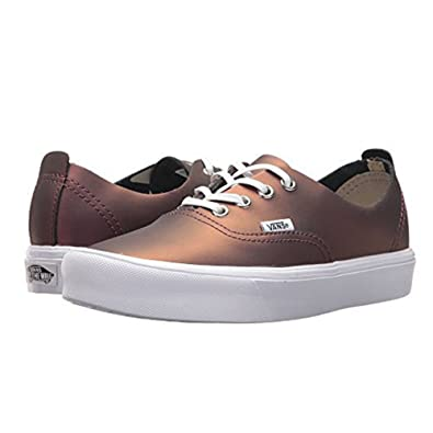 79a459a271123b Image Unavailable. Image not available for. Color  Vans Authentic Decon  Lite (Muted Metallic) Fashion Sneakers Red Gold ...
