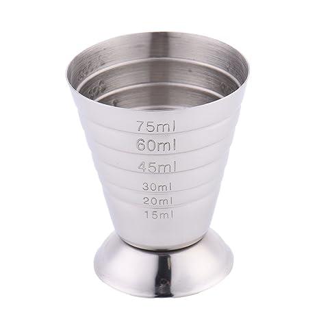 Vaso medidor para cócteles de acero inoxidable Espíritu vino cóctel vaso medidor de licor espíritu taza de medir con escala