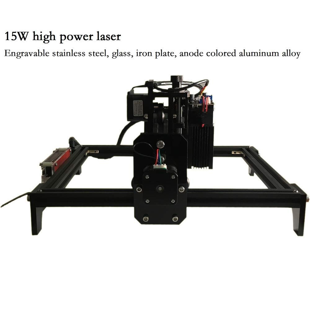 15W CNC Engraving Machine with 15000mw Wood Router Engraver,PCB Glass Metal Milling Machine Wood Carving Machine for DIY