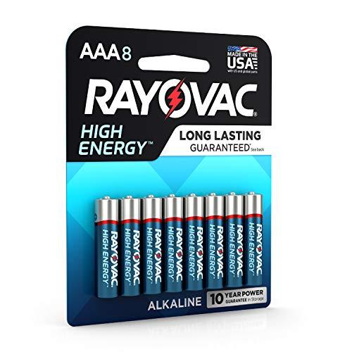 Rayovac AAA Batteries, Alkaline Triple A Batteries (8 Battery Count)