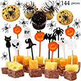 JOYIN 144 Pieces Spider Ring Cupcake Toppers and Halloween Appetizer...
