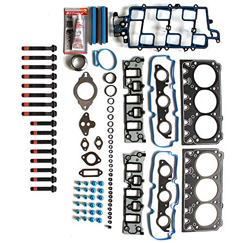 SCITOO Head Gasket Bolts Set Replacement for CPontiac Grand Prix Buick Allure Buick Lacrosse Buick Lucerne 06-09 Head Gaskets Kit Sets