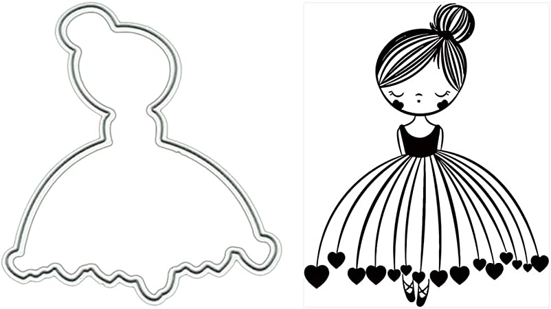 Girl Cutting Dies Stencil Embossing Scrapbooking Card Making Photo Album Decor