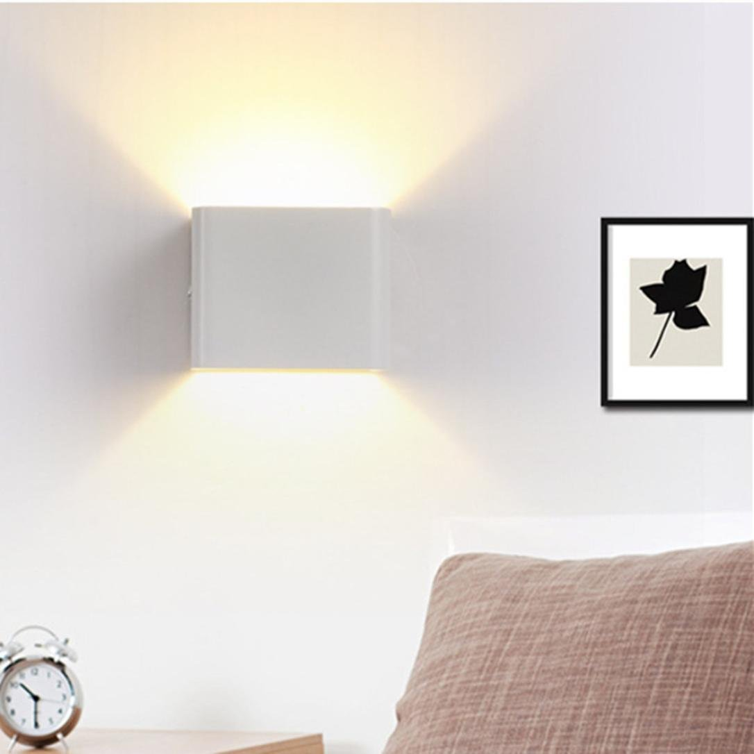 Iuhan Wall Sconces, Wall Lights LED 3W Aluminum Colorful RGB Light Wall Sconces Home Decoration (white) by Iuhan (Image #4)