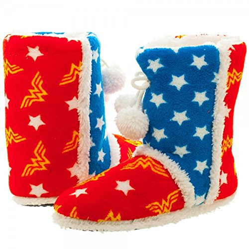 Wonder Woman Boot Slippers - DC Comics Size Small S wh33n8dco-s