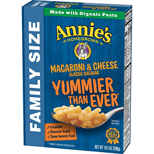 Annies Family Size Classic Mild Cheddar Macaroni & Cheese, 6 Boxes, 10.5oz (Pack of 6)