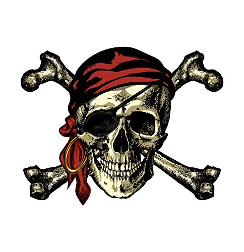 Vinyl Junkie Graphics Pirate Skull and Crossbones Sticker/Decal