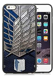 iPhone 6 Plus/6S Plus 5.5 inches Attack On Titan Shingeki No Kyojin Black Hot Sale Screen TPU Phone Case Genuine and Luxury Design