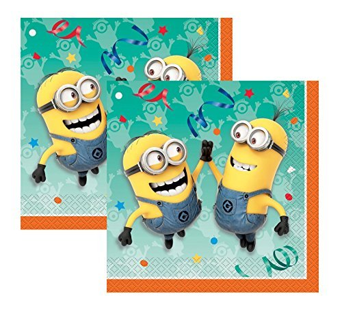 - 2-pack Despicable Me Minions Party Dinner 16ct Napkins (32 total)