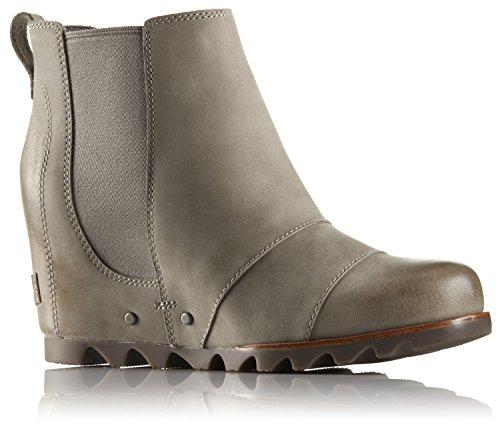 SOREL Women's Lea Wedge Kettle 8 B US (Leather Wedge Boot)