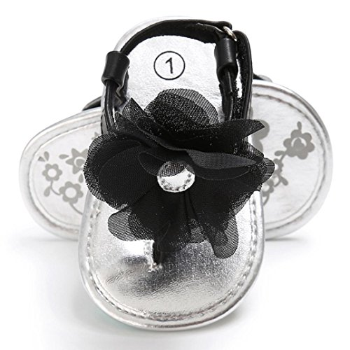 sandalias nina verano baratas Switchali Infantil ninas zapatos bebe niña primeros pasos Suave floral princesa Zapatos moda casual Sandalias de vestir deportivos Zapatillas Negro