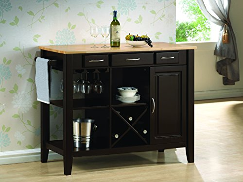 Coaster Home Furnishings Casual Kitchen Cart, Cappuccino