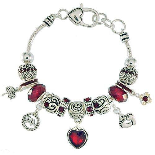 Landau Ambrosia January Birthstone Charm Bracelet by Landau