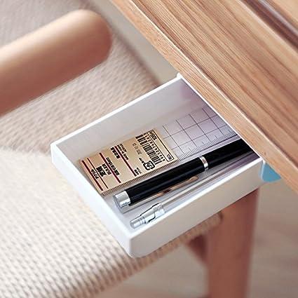amazon com indomit pencil tray drawer pop up self adhesive pen rh amazon com under desk cable organizer under desk organizers