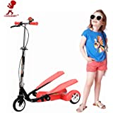 Coolbaby Smart Dual-Pedal Scooter for Kids Toys -Red
