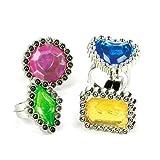 Fun Express Colorful Rhinestone Rings, 2 Packs (12 Dozen)