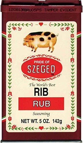 Szeged Rib Rub, 5 oz Tins (6 Pack)