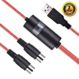 USB MIDI Cable Interface, OIBTECH Upgrade Professional MIDI to USB IN-OUT Cable Converter For PC/Mac/Laptop 2M(6.5FT) (RED)