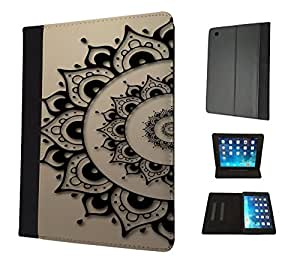 290 - Shabby Chic Eastern art lucky Sharm Design Apple ipad Pro -2015 Fashion Trend TPU Leather Flip Case Protective Purse Pouch Book Style Defender Stand Cover