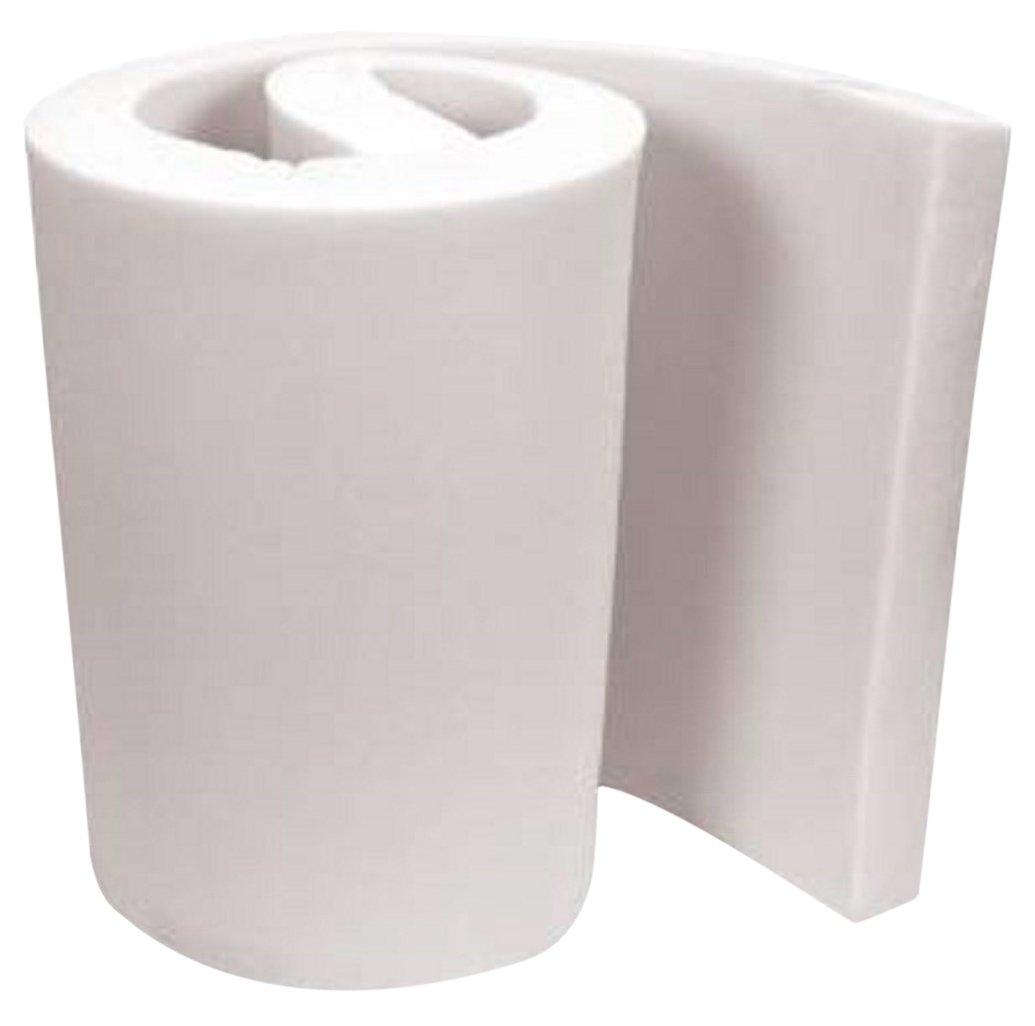 FoamTouch Upholstery Foam Cushion Medium Density Standard, 4'' L x 24'' W x 72'' H by FoamTouch