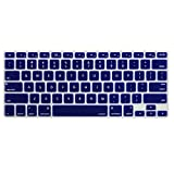 MOSISO Keyboard Cover Silicone Skin Compatible MacBook Pro 13 Inch, 15 Inch (with or Without Retina Display, 2015 or Older Version) MacBook Air 13 Inch, Dark Blue