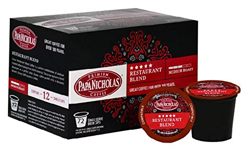 PapaNicholas 5 Star Restaurant Blend 72 Count K-Cup by PapaNicholas
