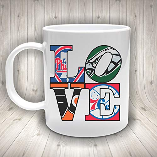 Philadephia Sports Mug, Eagles, Phillies, Flyers, Sixers, 76ers, Philly Sports Fan, Football, Baseball, Hockey, Basketball