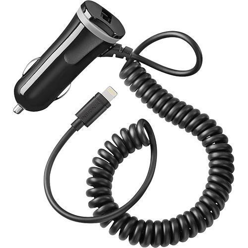 Insignia™ - Apple Mfi Certified 15w Vehicle Charger Wi