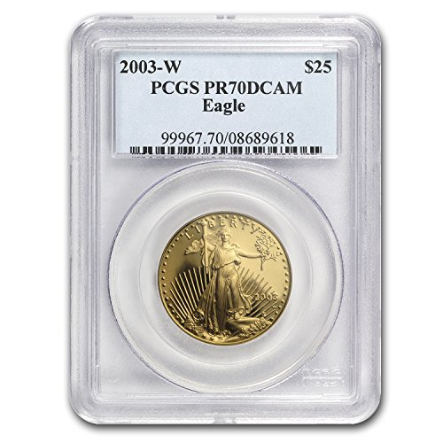 2003 W 1/2 oz Proof Gold American Eagle PR-70 PCGS Gold PR-70 PCGS