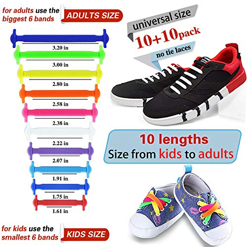 6f5906746227c EZIGO 10+10 No Tie Shoelaces Upgraded Elastic Shoelaces for Adults ...