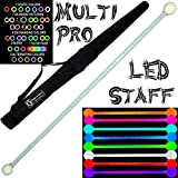 120cm LED Glow Staff MULTI-LIGHT (28 Settings) Multifunction Pro Glow LED Staffs + Flames N Games Staff Travel Bag.