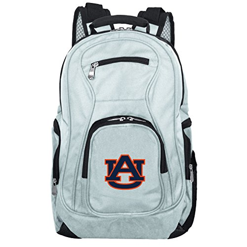 NCAA Auburn Tigers Voyager Laptop Backpack, 19-inches, Grey