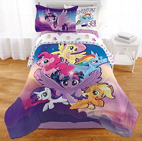 My Little Pony Twin Comforter, Sheet Set & BONUS PILLOW SHAM (5 Piece Bed In A Bag) + HOMEMADE WAX MELTS by Kids Bedding