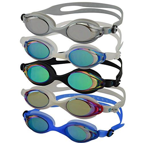 DoYourSwimming Barracuda Lunettes de natation Protection UV 100% et système antibuée Bande en silicone résistante Boîte solide Produit de marque de qualité supérieure Différents coloris - Gri