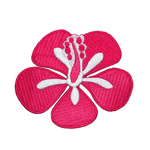 Pink Hibiscus Flower Blossom Patch Girls Tropical Hawaii