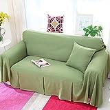RUGAI-UE Sofa Slipcover Linen sofa full cover sofa cover antiskid sofa cover anti-skid,300×180,Greenery