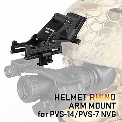 Canis Latran Night Vision Goggle (NVG) Rhino Mount for PVS-7, PVS-14, PASGT.M-88 & MICHI-2000 Helmet