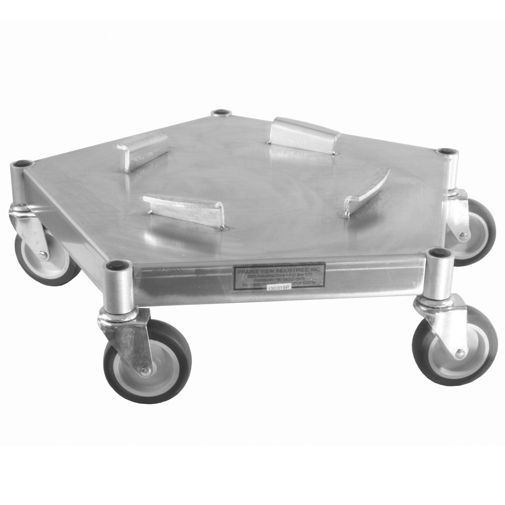 UltraSource Heavy Duty Caster Trash Can Dolly, 625 lb Capacity, Swivel Casters
