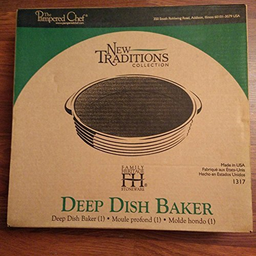 Stoneware Deep Dish Baker - Pampered Chef Family Heritage Stoneware: Deep Dish Baker -Vanilla