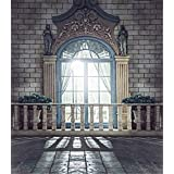 Bright Windows Marble Floor Vintage European Architecture Romantic Wedding Photo Booth Backdrops Studio Wallpaper Props Cloth Photography Backgrounds 8x10ft