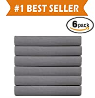 (6-PACK) Luxury Fitted Sheets! PREMIUM HOTEL QUALITY Elegant Comfort Wrinkle-Free 1500 Thread Count Egyptian Quality 6-PACK Fitted Sheet with Stora