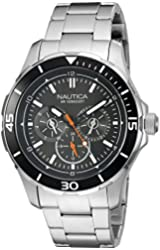 Nautica Men's NAD16529G NST 10 Analog Display Quartz Black Watch