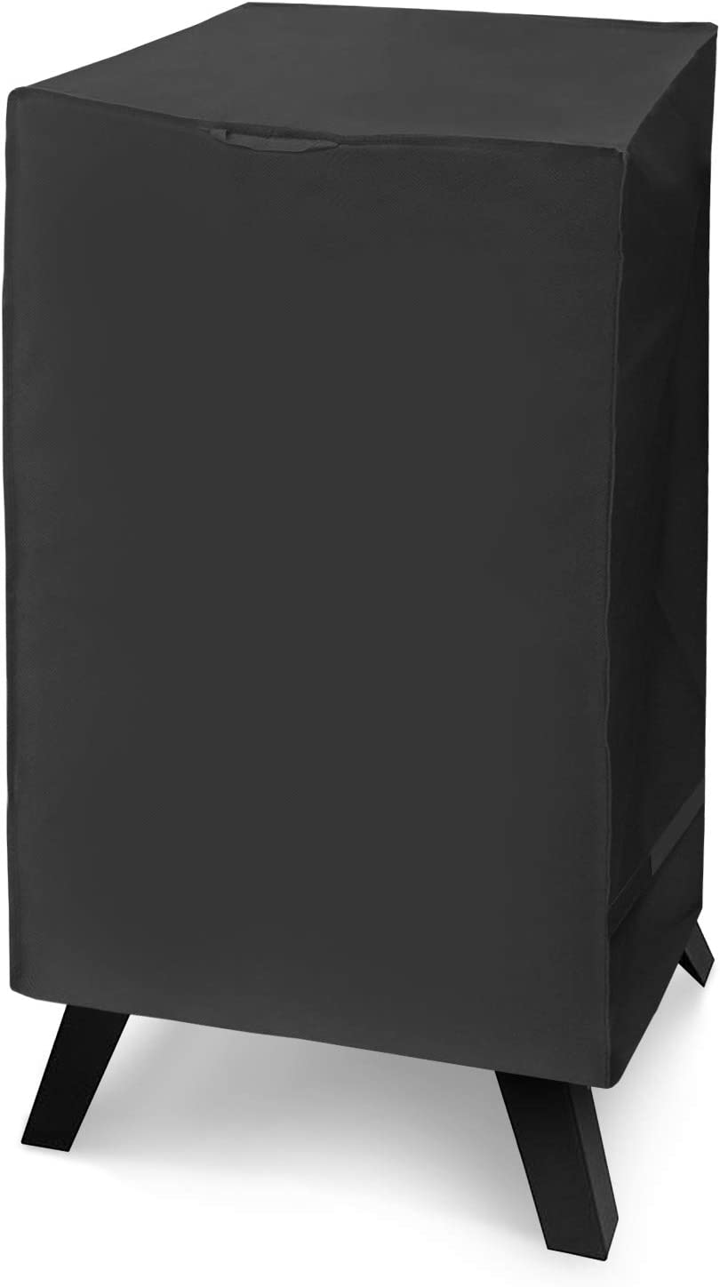 """Arcedo Electric Smoker Cover, Heavy Duty Waterproof Vertical Smoker Cover, Square Digital Smoker Grill Cover, Fade and UV Resistant, Fits Masterbuilt 40 Inch Smoker and More, 23""""W x 17""""D x 39""""H, Black"""