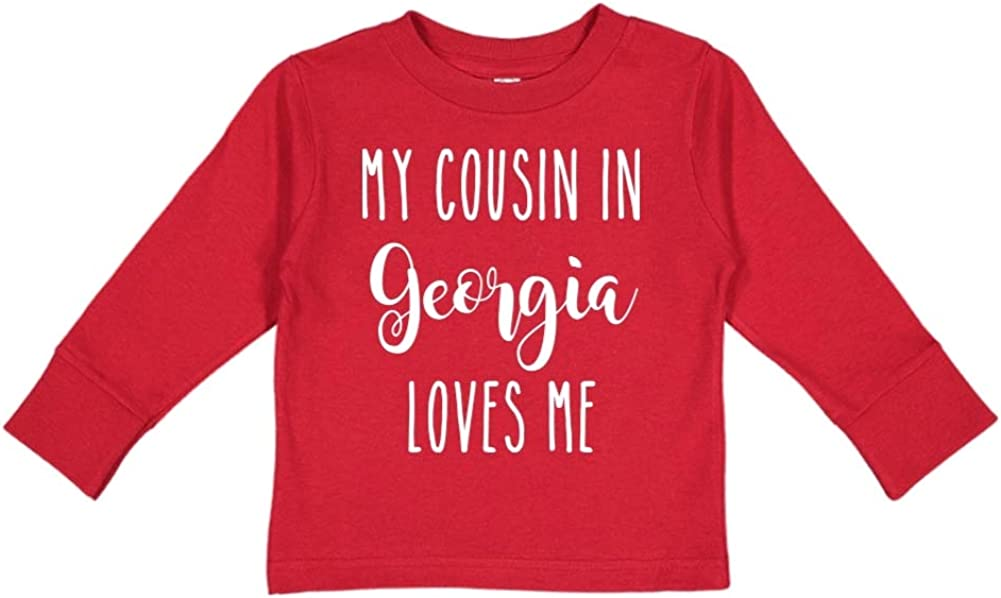 My Cousin in Georgia Loves Me Toddler//Kids Long Sleeve T-Shirt