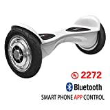 MACACI-UL2272 Self Balancing Scooter / Hoverboard, 10' Smart Two Wheel Self Balancing Electric Scooter with APP CONTROL /Bluetooth Speaker and LED Lights (White 10')