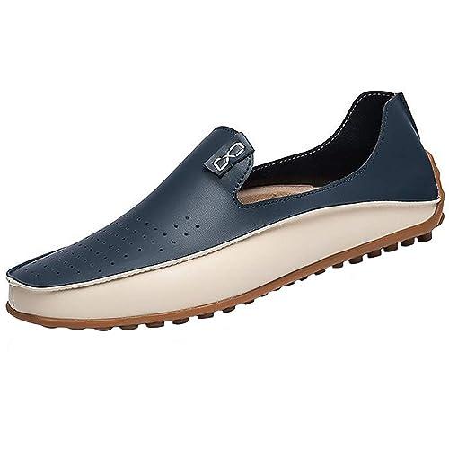 Yaer Mocasines de Conducción de Los Hombres Clásicos Premium, Mocasines de Cuero Sin Cordones Zapatos de Barco EU39-EU47: Amazon.es: Zapatos y complementos