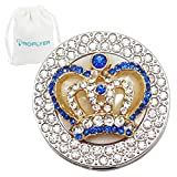 Round Purse Hook **3 choices** - Foldable Handbag Hanger Safer Cleaner Bag, Fold Up For Easy Storage,Folding Table Hanger, with Velvet Pouch (Blue Diamond Crown)