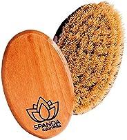 Spanda Cepillo corporal de mano con cerdas naturales con estuche