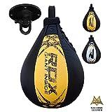 RDX Leather Boxing Speed Bag MMA Ball Swivel Punching Workout Training