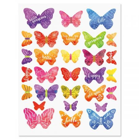 Current Butterfly Days Stickers - 116 Stickers on two 8-1/2
